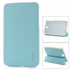 KALAIDENG Protective PU + PC Case w/ Stand for Samsung Galaxy Tab 3 7.0 (P3200) - Light Green