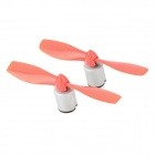 DIY Powerful Electric Motor w/ Propeller / Fairing for R/C Aircraft Model - Red (2 PCS)