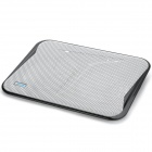 Coolcold Ultra-thin Quiet USB Powered 2-Fan Cooling Pad for laptops - White + Black