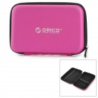 "Orico PHB-25-PK 2.5"" Zippered Storage Bag for HDD / Camera / Mobile Phone - Deep Pink + Black"
