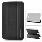 KALAIDENG Protective PU + PC Case w/ Stand for Samsung Galaxy Tab 3 7.0 (P3200) - Black