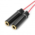 1-to-2 3.5mm Male to Female Audio Sharing Adapter Cable - Black + White + Red