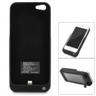 3000mAh Solar Energy Powered wiederaufladbare Li-Ion Power Back Case w / Halter für das iPhone 5 - Schwarz