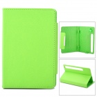 "Lychee Pattern Protective PU Case w/ Stand for 7"" Tablets OADA / Ainol + More - Yellowish Green"