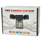 "H3000C 2.0"" Screen TFT 90' Wide Angle CMOS Double Camera Night Vision Car DVR Recorder - Black"