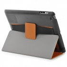 WP-34 Toothpick Padrão PU Protective Leather + PC Case w / Auto sono + Suporte para iPad 3/4 - Brown