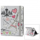 Cartoon Tower Pattern  PU Leather Case w/ Auto Sleep for Ipad 2 / 3 / 4 - Multicolored