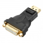 Display Port DP Male to DVI Female Connector Adapter - Black + Golden