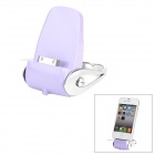Charging Dock Station for iPhone 4 / 4S - Light Purple + Silvery White