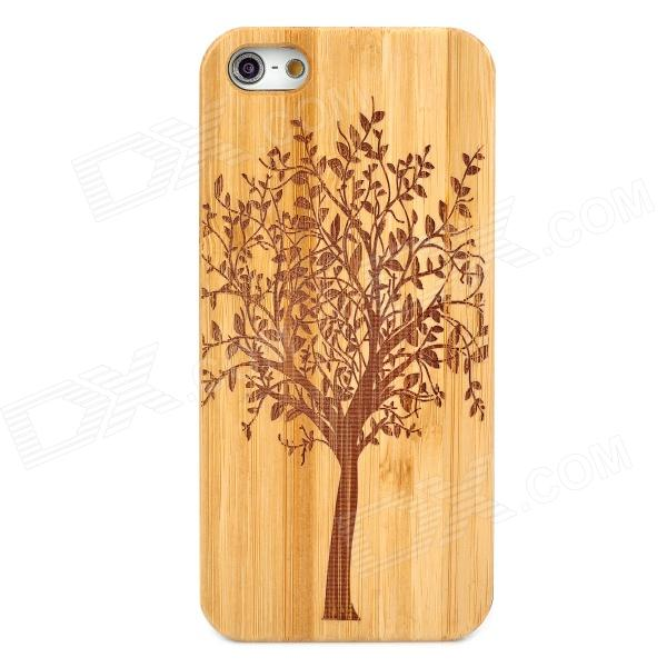Protective Tree Pattern Bamboo Case for Iphone 5 - Brown + Black