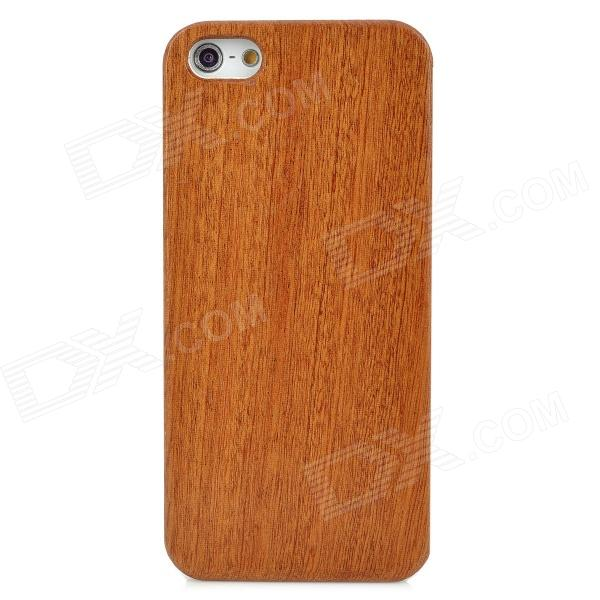 Protective Plastic + Pearwood Case for Iphone 5 - Brown