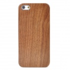 Protective Walnut Wooden + Plastic Case for iPhone 5 - Brown + Black