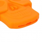 Legal Crânio Estilo Voltar protetora de silicone para Iphone 5 - Orange