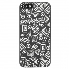 Glow-in-the-Dark Relief Style Protective Plastic Back Case for Iphone 5 - Black