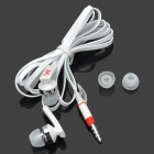 K-YIN K-3 Stylish In-Ear Earphones w/ Microphone for Iphone / Samsung - White (3.5mm Plug / 1.1m)