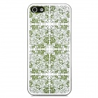 Laser Flower Pattern Protective PC Back Case for Iphone 5 - Green