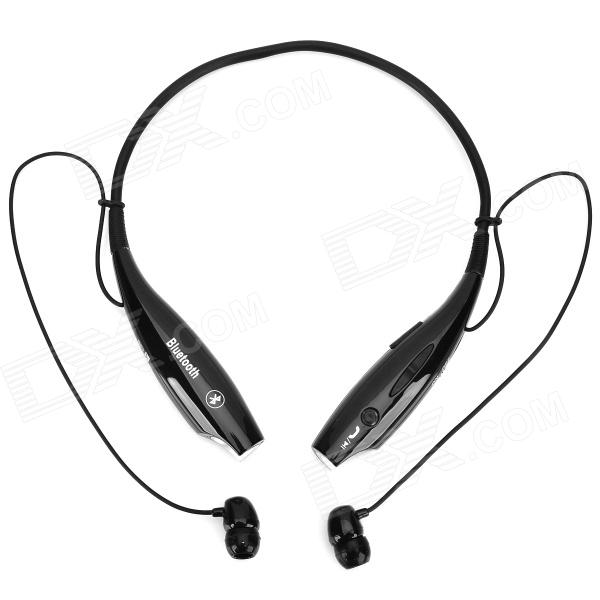 HV-800 Neck Hanging In-Ear Bluetooth v2.1 + EDR Earphones w/ Microphone for Iphone 5 - Black