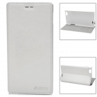 AZNS Stylish PU Leather Stand Case w/ Card Slots for Lenovo K900 - White