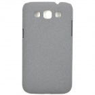 Quicksand Style Protective PC Back Case for Samsung i8552 - Grey