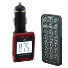 "1.3"" LCD Car MP3 Player FM Transmitter with Remote Controller - Red + Black (12V)"