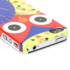 Stylish Owl Style Protective Plastic Back Case for Iphone 4 - Red + Blue + Green