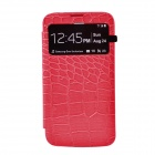 Stylish Crocodile Pattern Flip-open Protective PU Leather Case for Samsung i9200 - Deep Pink