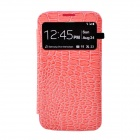 Crocodile Pattern Flip-Open Protective PU Leather Case for Samsung Galaxy Mega 6.3 i9200 - Pink