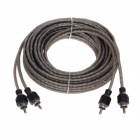 Car Audio 2-RCA Male to Male Connection Cable - Black (500cm)