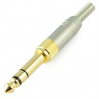 Gold Plated 6.35mm to 3.5mm Stereo Plug Soldering Adapter - Golden + Silver