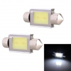 Festoon 36mm 2W 160lm 2 x COB LED White Light Car Auto Reading Lamp - (12V / 2 PCS)