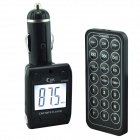 "MP02 1.3"" LCD Car MP3 Player FM Transmitter w/ Remote Controller - Black (12V)"
