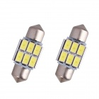 Festoon 31mm 3W 240lm 6 x SMD 5630 LED White Light Decoding Car Reading Lamp Dome Bulb (12V / 2 PCS)