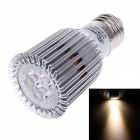 ZY-A045-06 E27 6W 540lm 3000K 3-LED Warm White Light Bulb Lamp - Silber + Weiß + Grün (85 ~ 265V)
