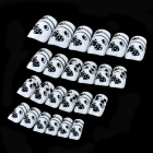 J-1032 Crystal Bow Pattern Adhesive Decorative Nail Tip  - Black + White (24 PCS)