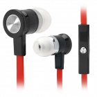 Universal 3.5mm Jack Wired In-Ear-Headset w / Mikrofon für iPhone 5 / 4S / 4/3 - Rot + Schwarz
