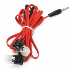Universal 3.5mm Jack Wired In-ear Headset w/ Microphone for Iphone 5 / 4S / 4 / 3 - Red + Black