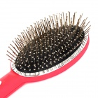 loof Electric Vibrating Massage Hair Brush Comb for Blood Circulation - Red + Black (1 x AA)