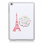 Elegant Eiffel Tower Style Protective TPU + Rhinestone Back Case for Ipad MINI - White + Red + Green