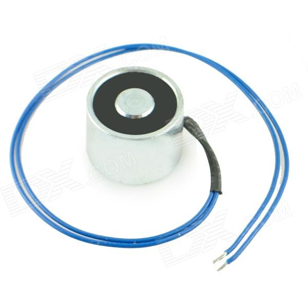 20 x 15mm DC Electro Holding Magnet - Blue + Silver + Black (22cm-Cable) holding the line