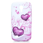 Stylish Love Heart Style Protective Silicone Back Case for Samsung Galaxy S4 Mini i9190 - Purple