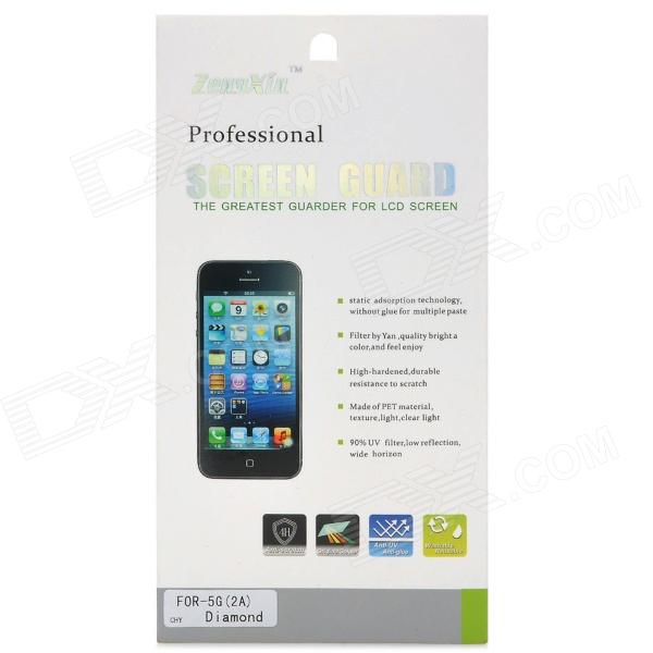 Protective PET Anti-Scratch Clear Screen Guard Film for Iphone 5 - Transparent - DXScreen Protectors<br>Brand N/A Quantity 1 Piece Color Transparent Material PET anti-scratch material Compatible Models Iphone 5 Screen Type Glossy Other Features Protects the screen from dust scratches and fingerprint. Packing List 2 x Films 1 x Cleaning cloth<br>