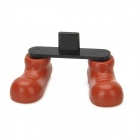 Novel Mini Boots Style Plastic Holder for iPhone 5 - Brown