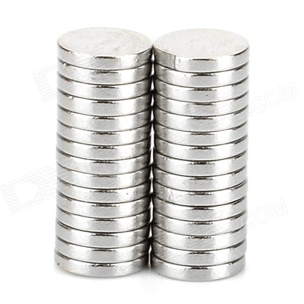 6 x 1mm Round N33 NdFeB Magnet - Silver (30 PCS) 3 x 3 x 1mm n38 powerful ndfeb round magnet for kid diy