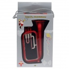 Protective Plastic Back Case w/ Megaphone for Iphone 5 - Red