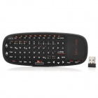 K10-D 2.4GHz Wireless Mini German Optical Keyboard / Air Mouse for Laptops + More - Black