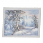 Snow Woods Pattern Decorative Linen Landscape Oil Painting