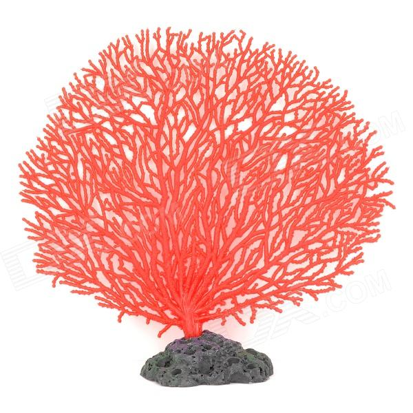 A-101 Decorative Aquarium Lifelike Artificial Coral - Red + Black