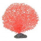 A-101 Decorative Aquarium Lifelike Artificial Coral - rot + schwarz