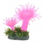 A-103 Decorative Aquarium Lifelike Artificial Coral + Wasserpflanzen - Lila + Grün