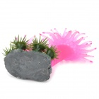 A-103 Decorative Aquarium Lifelike Artificial Coral + Aquatic Plants - Purple + Green